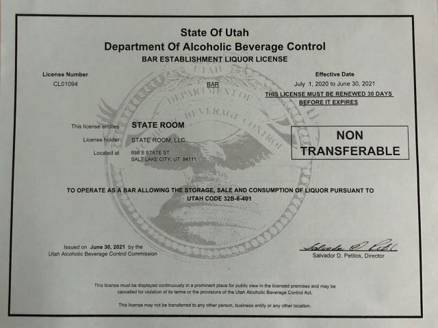 TSR Liqour License